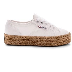 NEW WITH TAGS SUPERGA ESPADRILLE SNEAKERS IN WHITE